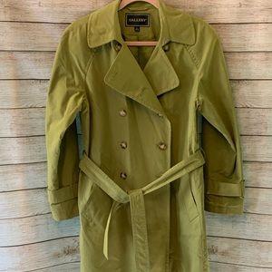 Beautiful moss green trench coat